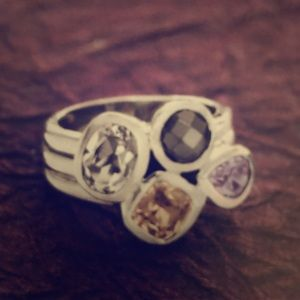 Silpada Sterling Silver .925 Wine Flight Ring